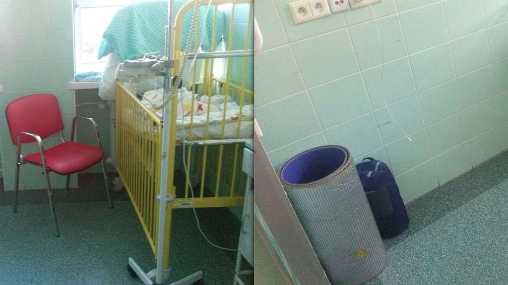 Tydzień po porodzie matka wcześniaka dostała w szpitalu do spania karimatę, do karmienia dziecka krzesło