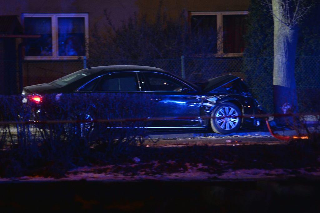 Wypadek limuzyny z kolumny BOR wiozącej premier Beatę Szydło. Oświęcim, 10 lutego 2017