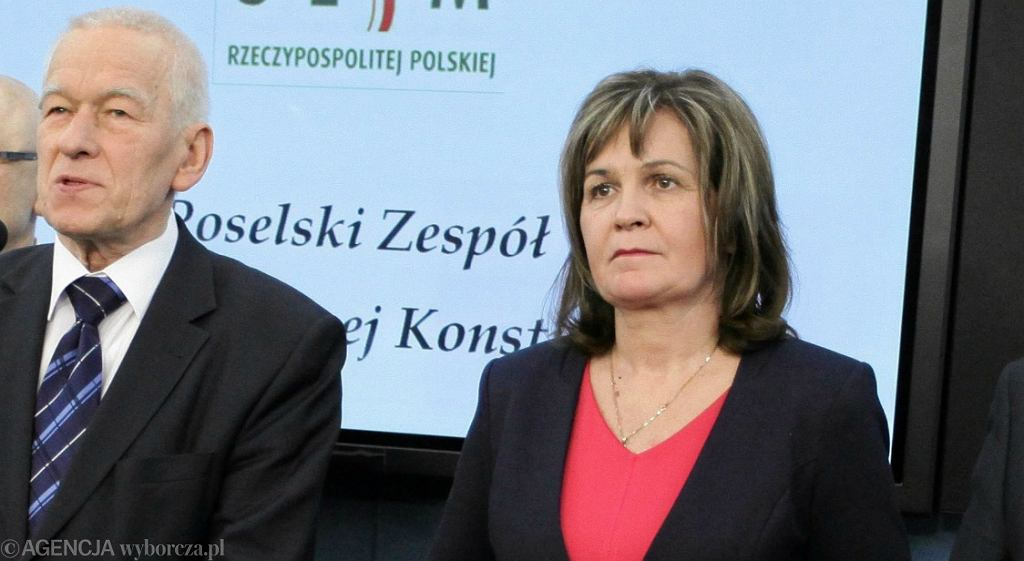 Posłowie Kukiz'15 Kornel Morawiecki i Małgorzata Zwiercan