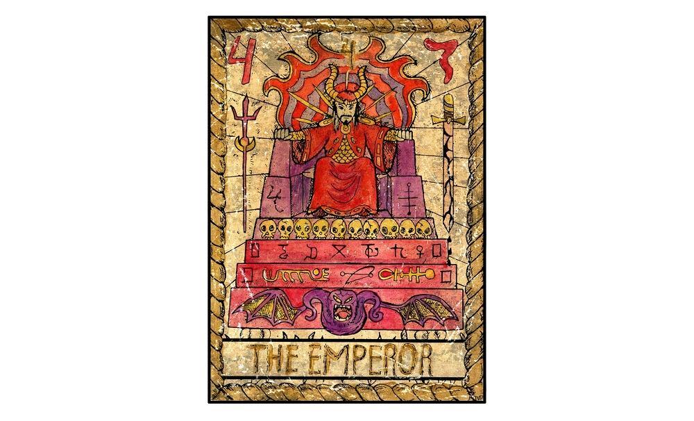 Karta tarota - 4 cesarz