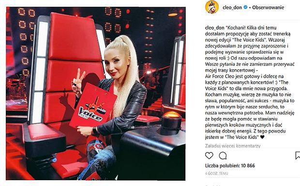 Cleo na Instagramie