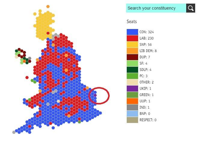 Wybory w Wielkiej Brytanii - jeden mandat w parlamencie dla UKIP