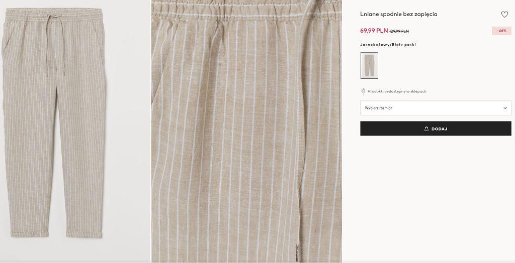 Spodnie lniane HM