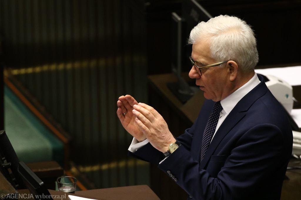 Szef MSZ Jacek Czaputowicz w Sejmie