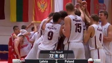 Koniec meczu z Łotwą