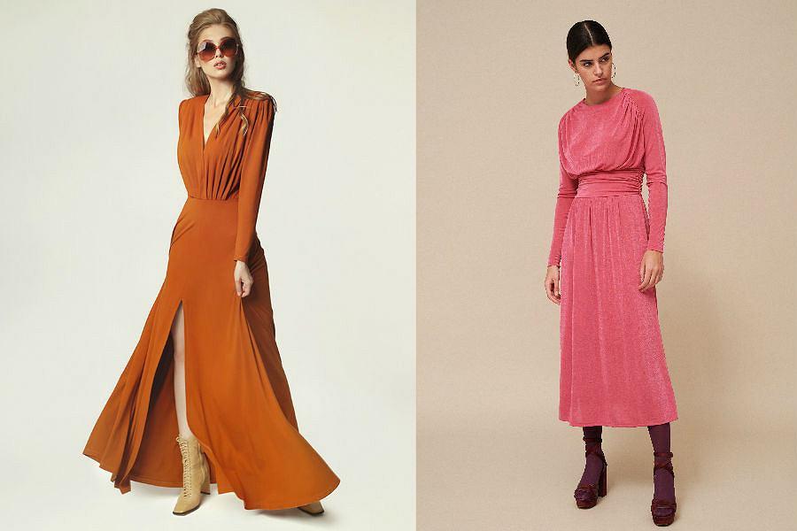 Sukienka z drapowaniami