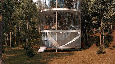 Cylindryczny dom w Kazachstanie