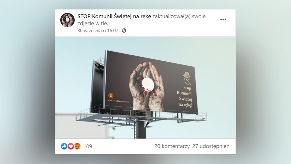 Billboard Stowarzyszenia Kultury Chrześcijańskiej im. Piotra Skargi