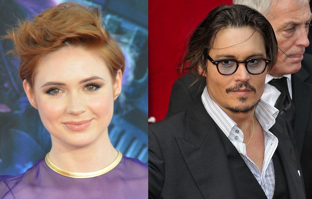 Karen Gillian i Johnny Depp