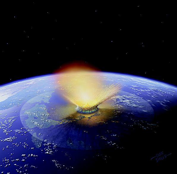 Asteroid, która mogła zabić nieptasie dinozaury 66 mln lat temu