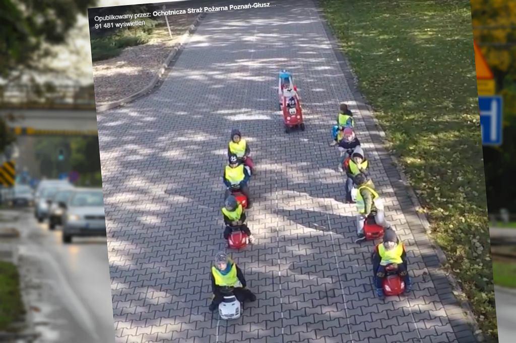 Przedszkolaki pokazały, jak zrobić korytarz życia