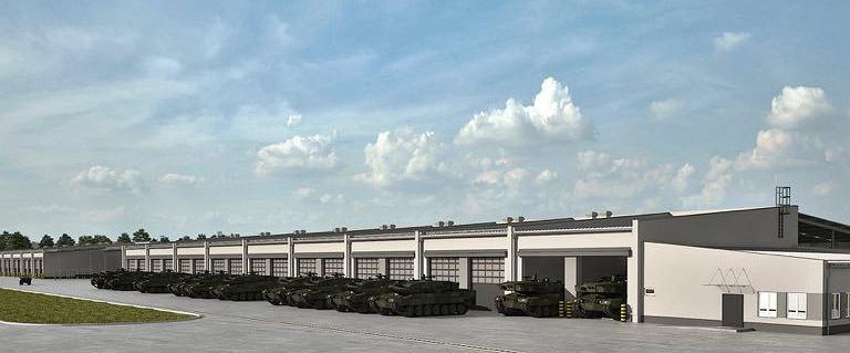 MON ukrywa szczegóły budowy garaży dla czołgów w Wesołej
