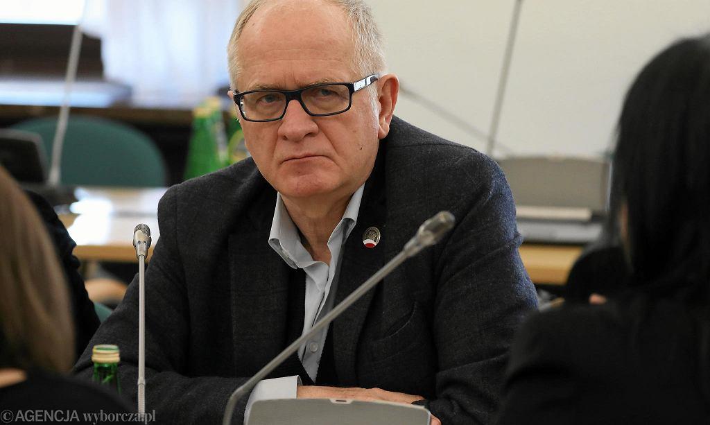 Krzysztof Czabański podczas posiedzenia sejmowej komisji kultury i środków przekazu. Warszawa, 27 lutego 2018 r.