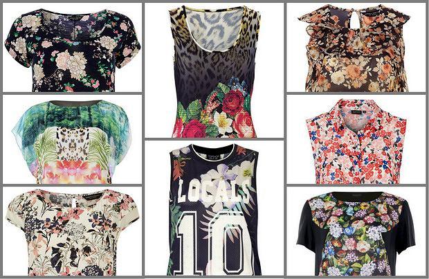 Bluzki w kwiaty na wiosnę 2014