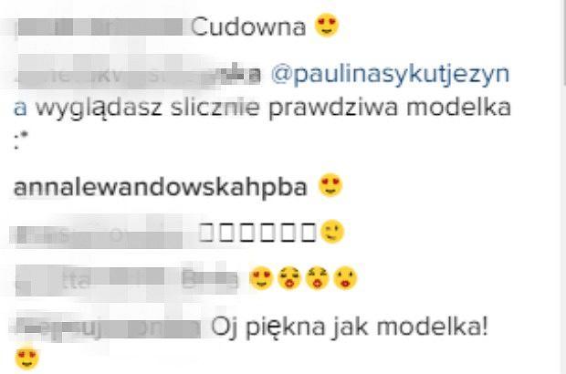 Komentarze z profilu Pauliny Sykut