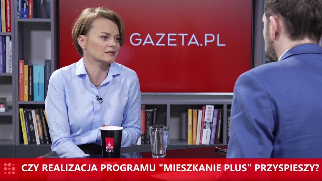 Jadwiga Emilewicz o Mieszkaniu Plus dla Gazeta.pl