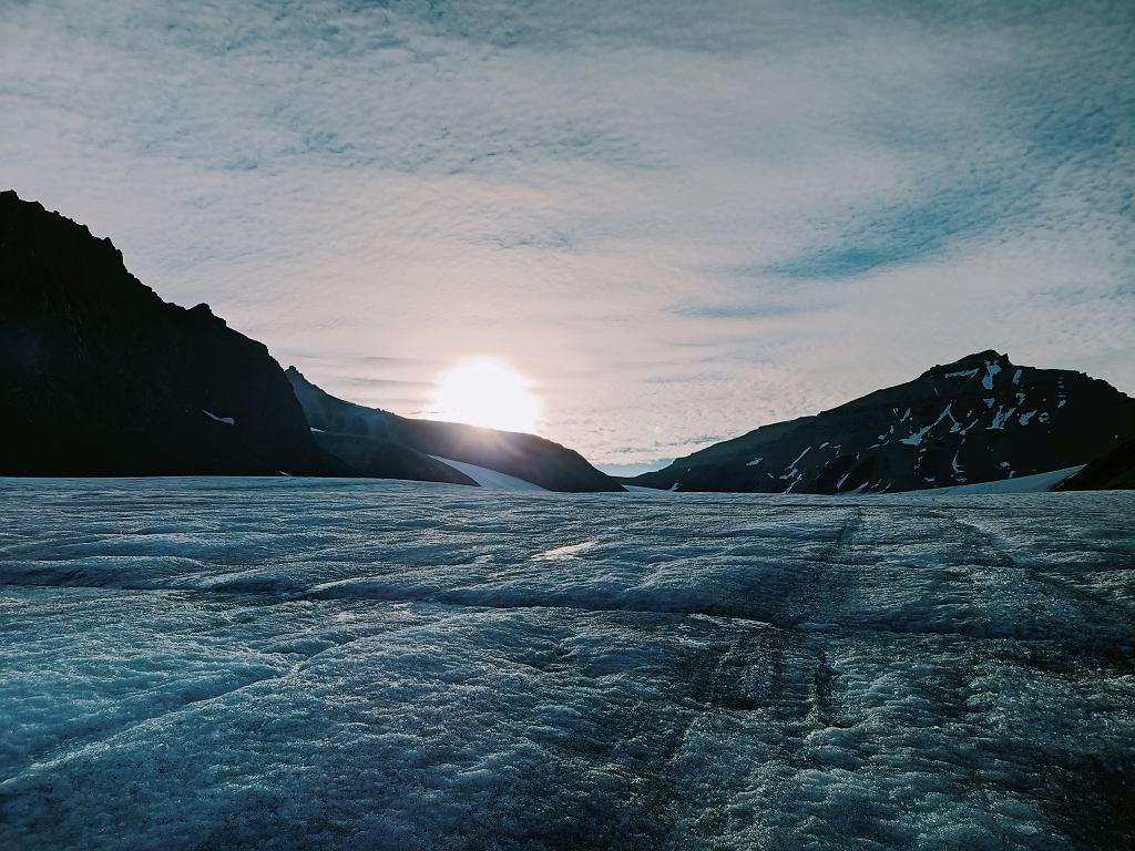 Lodowiec Sven na Spitsbergenie, który badają naukowcy z UAM