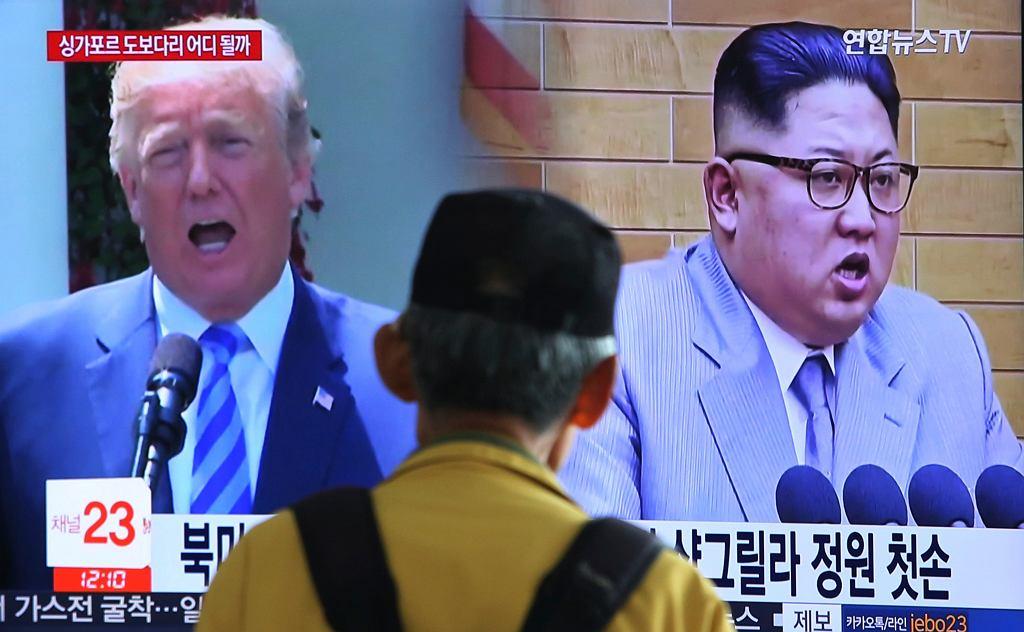 Donald Trump i Kim Dzong Un