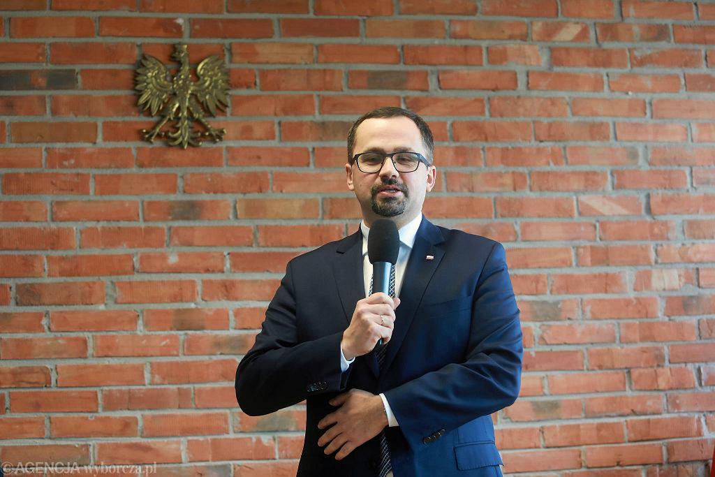 Marcin Horała, wiceminister infrastruktury odpowiedzialny za lotnictwo, pełnomocnik rządu ds. Centralnego Portu Komunikacyjnego
