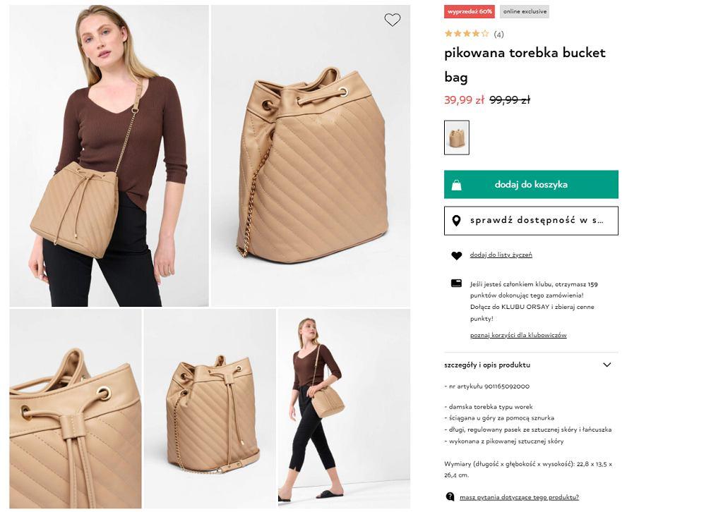 pikowana torebka