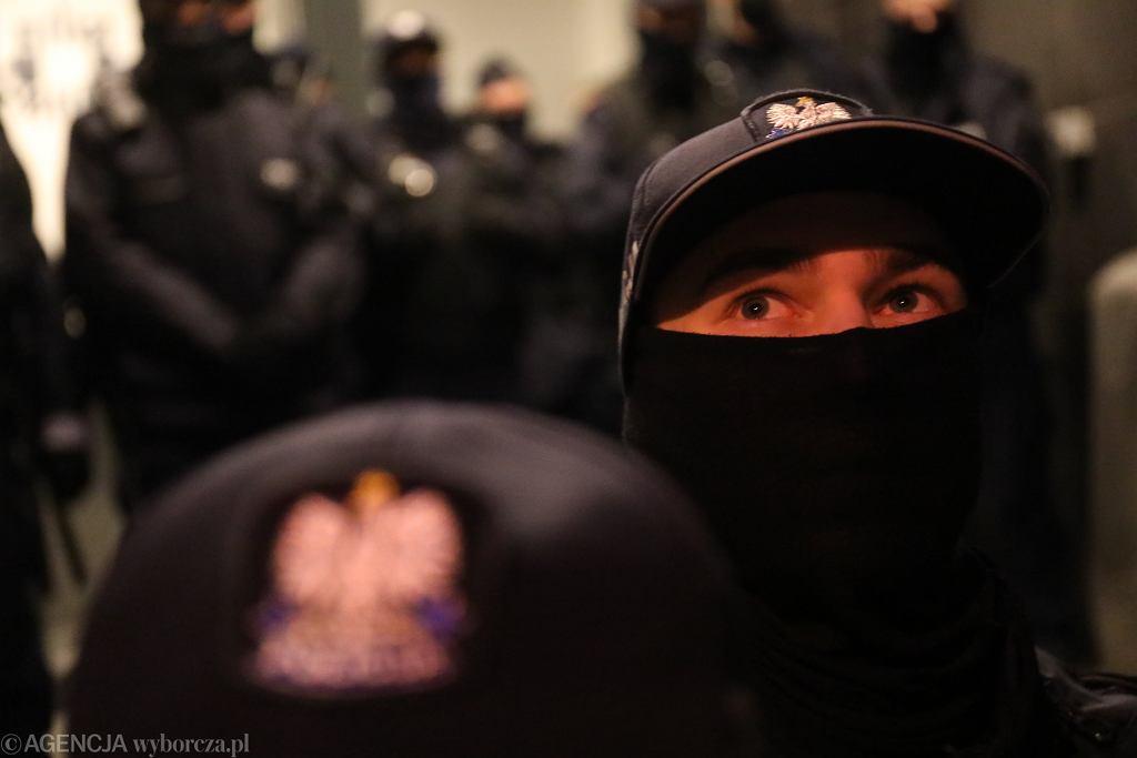 Policja na proteście