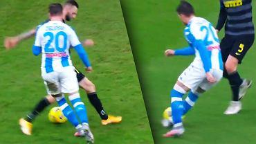 Piotr Zieliński zabawił się z rywalami w meczu Inter - Napoli