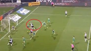 Karol Świderski zdobył gola z Panathinaikosem