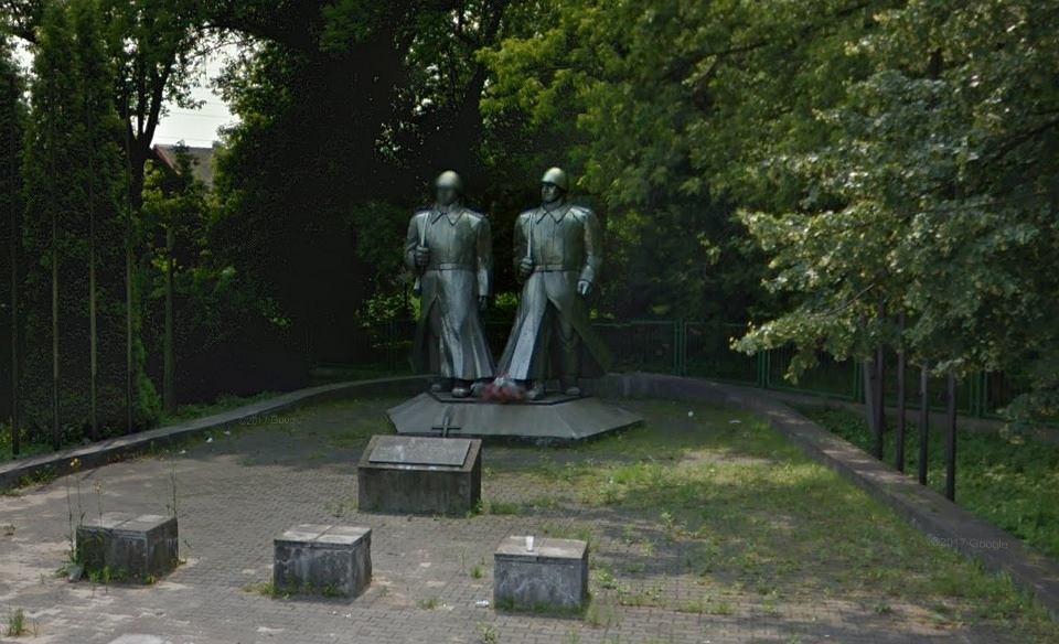 Pomnik czerwonoarmistów w Łośniu - Dąbrowie Górniczej