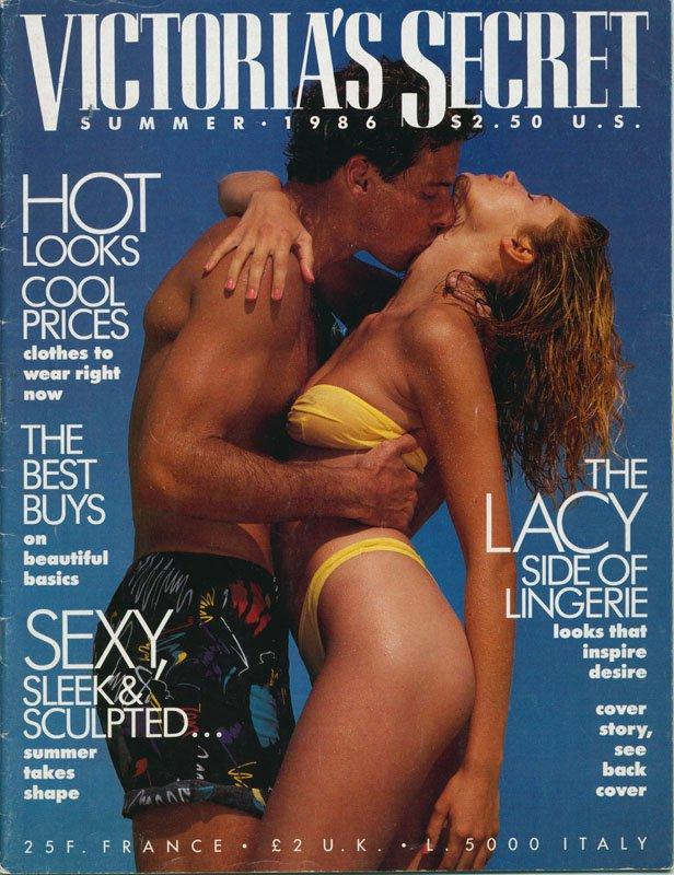 Okładka letniego katalogu Victoria's Secret, lato 1986