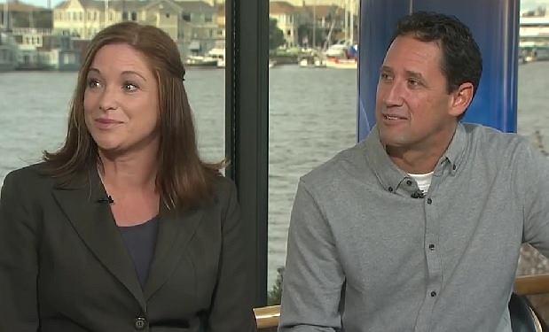 Cathleen i Brian we wspólnym wystąpieniu telewizyjnym, w którym opowiedzieli swoją niezwykłą historię