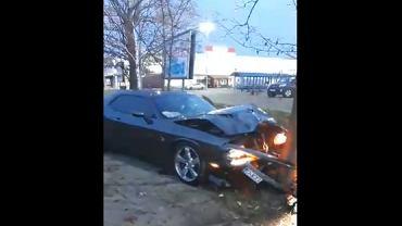 Wrocław. Pracownik myjni rozbił na drzewie luksusowy samochód klienta