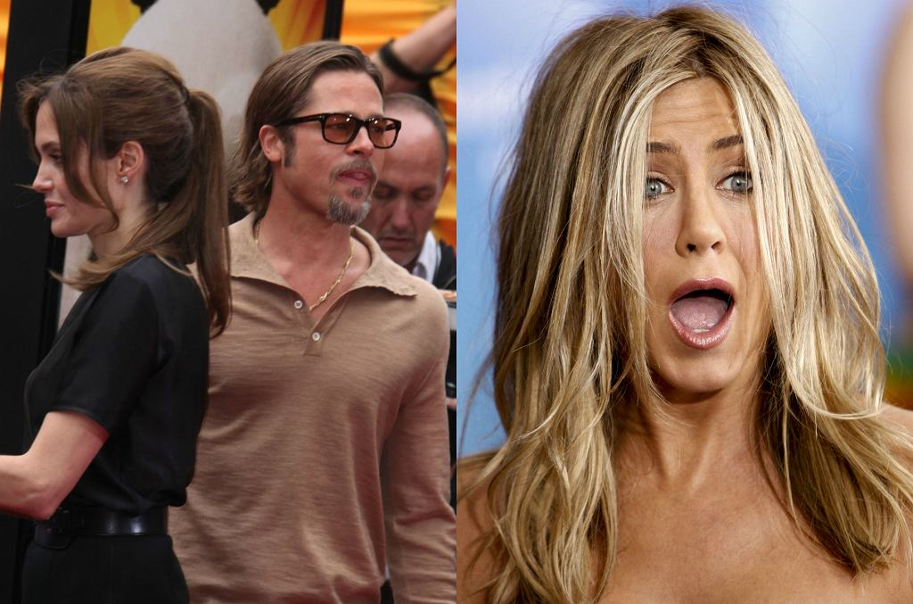 Angelina Jolie i Brad Pitt, Jennifer Aniston