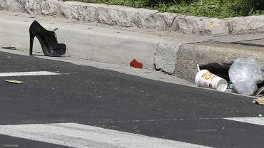 Miejsce ataku zamachowca w Nicei