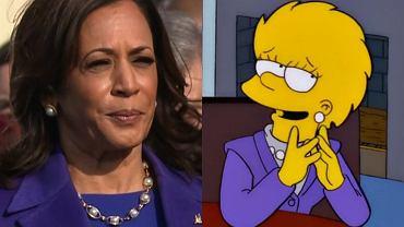 Kamala Harris wystąpiła w stylizacji, która łudząco przypominała Lisę z 'Simpsonów'
