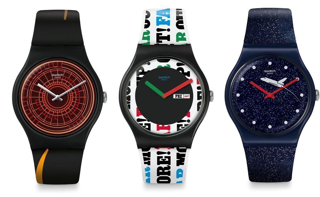 Zegarki Swatch poświęcone filmom z Jamesem Bondem