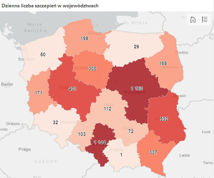 W poniedziałek w Małopolsce na COVID-19 zaszczepiła się tylko jedna osoba
