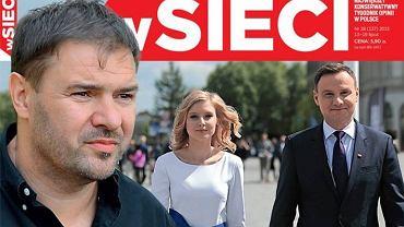 """Tomasz Karolak na okładce pisma """"W Sieci"""""""