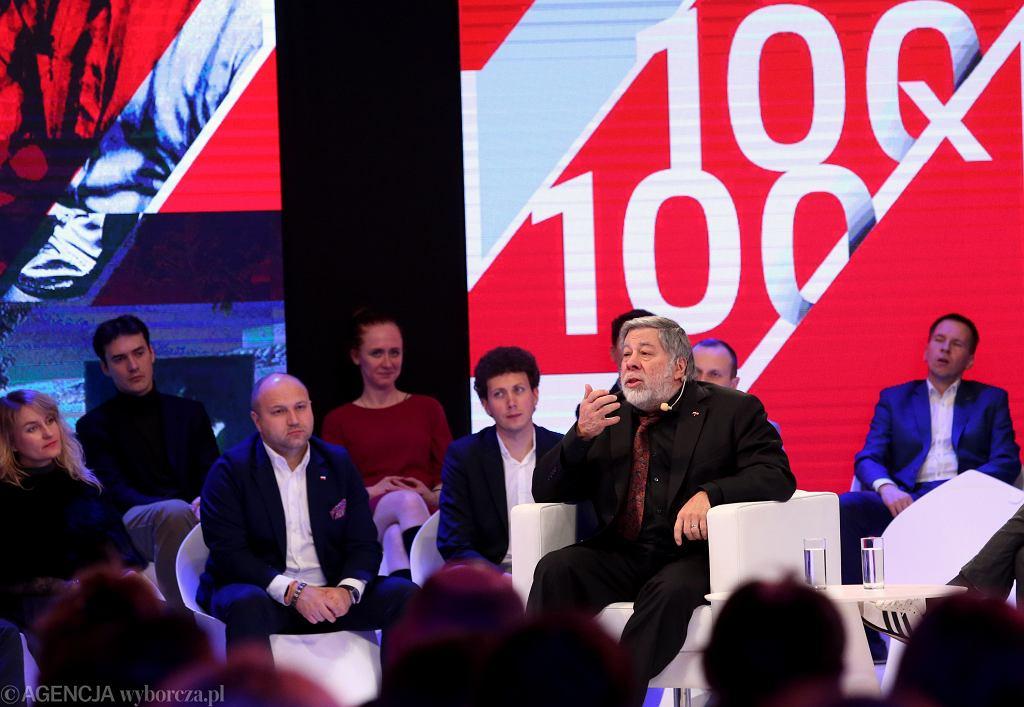Spotkanie ze Stevem Wozniakiem w ramach projektu '100x100'