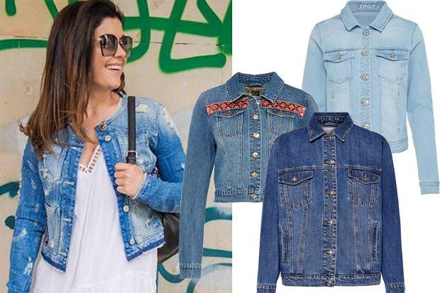 Kolaż, kurtka jeansowa/Materiały partnera/www.instagram.com/katarzynacichopek/