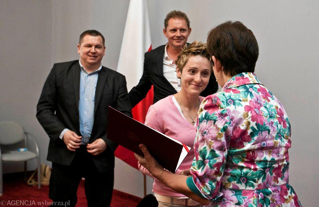 Julie McBride na uroczystości w Urzędzie Wojewódzkim