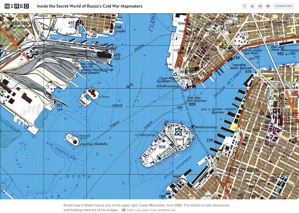 Radzieckie Mapy Z Czasow Zimnej Wojny Dokladne Jak Google Maps