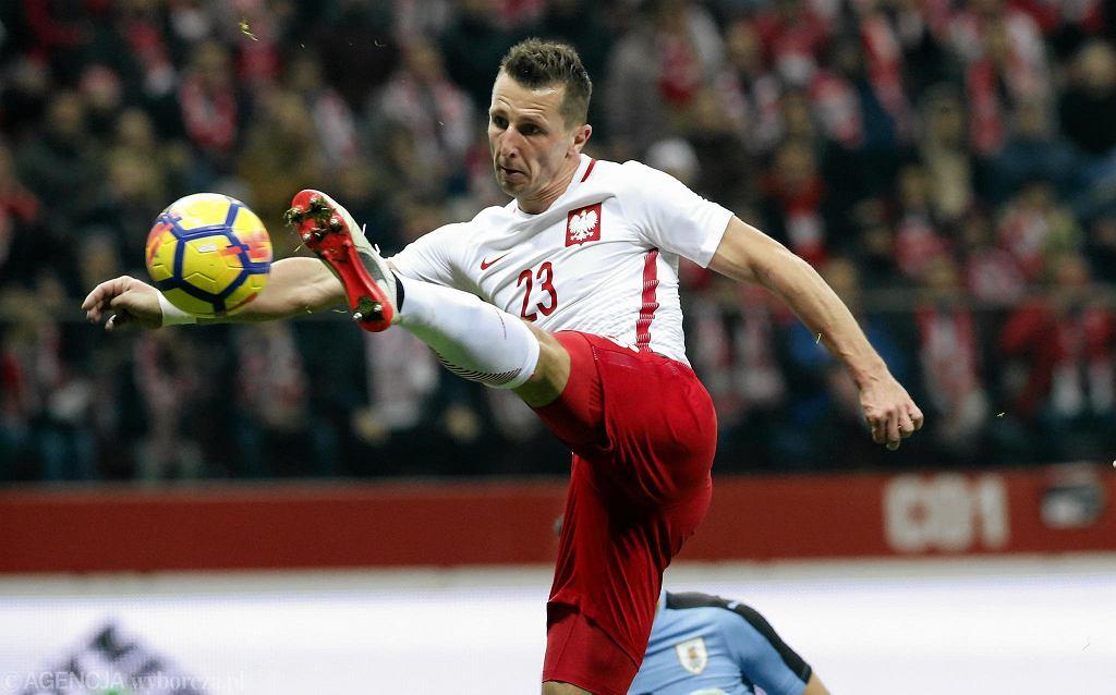 Gwiazda Broendby Kamil Wilczek w barwach reprezentacji Polski