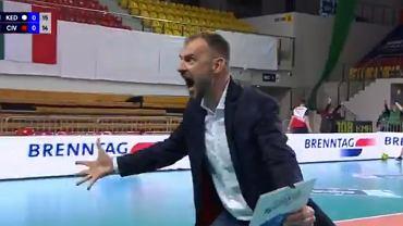 Radość Nikoli Grbicia po meczu ZAKSA - Cucine Lube Civitanova