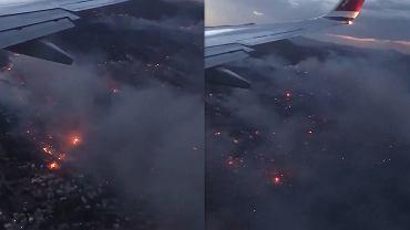Pożary w Grecji. Widok z samolotu pokazuje ogrom zniszczeń