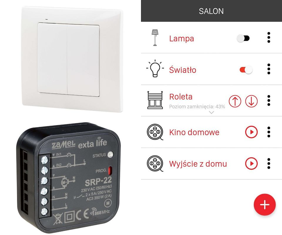 ZDALNE ZARZĄDZANIE. Inteligentny dom EXTRA LIFE to centrum dowodzenia domowymi sprzętami - za jego pomocą m.in. włączymy, wyłączymy i ściemnimy światło, otworzymy i zamkniemy drzwi, bramę oraz rolety okienne, ustawimy temperaturę - a wszystko to z dala od domu, za pomocą telefonu lub tabletu, na zamówienie
