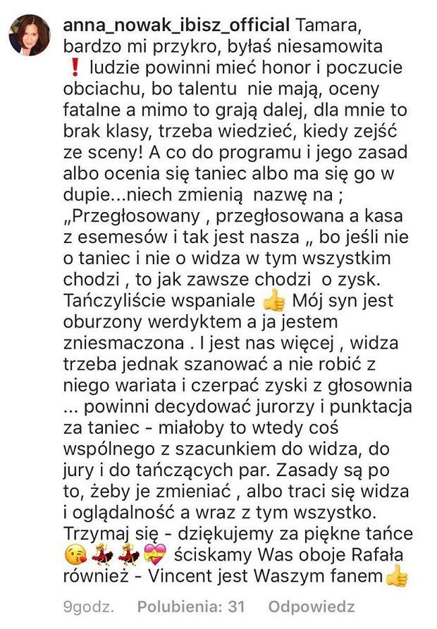 Anna Nowak-Ibisz komentuje odpadnięcie Macademian Girl