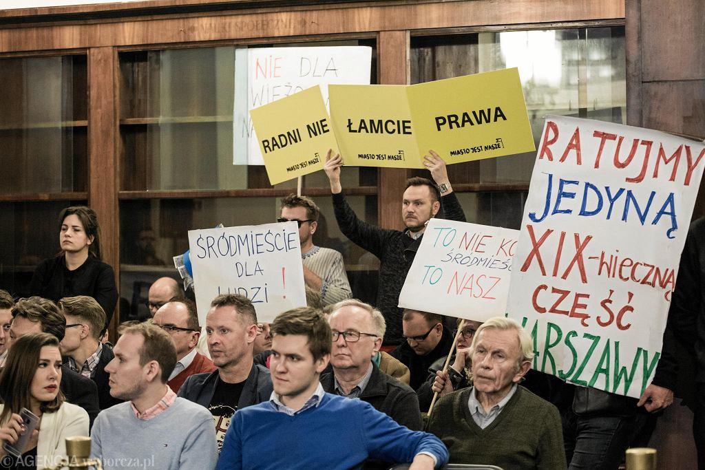 Obrady Rady Warszawy nad planem zagospodarowania Śródmieścia Południowego