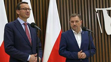 Mateusz Morawiecki i Piotr Duda po rozmowach w Gdańsku
