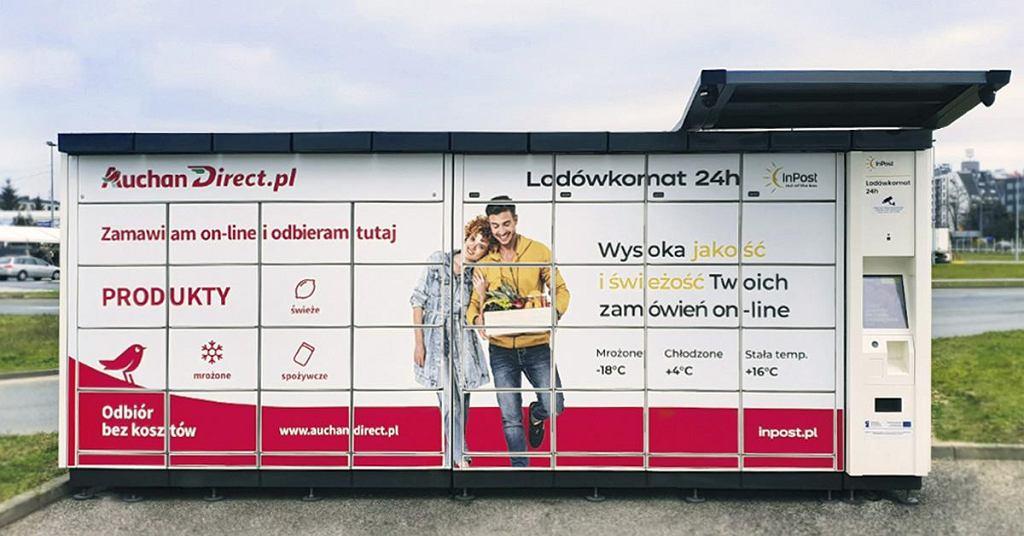 Lodówkomaty 24H. InPost rozpoczał współpracę z Auchan Direct