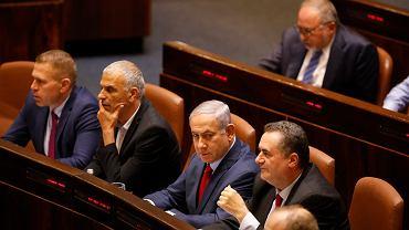 29.05.2019, Jerozolima, premier Izraela Benjamin Netanjahu przed głosowaniem w sprawie samorozwiązania Knesetu.